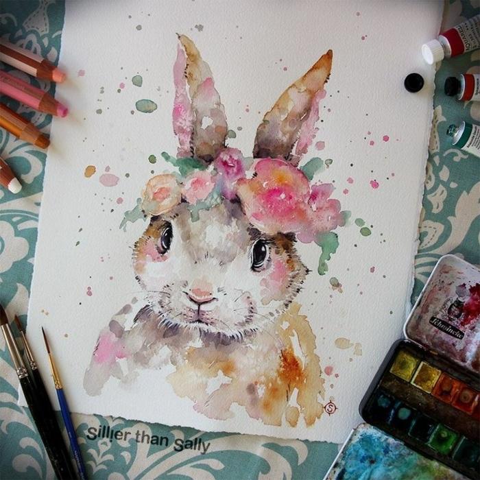 ideas para dibujar animales con acuarelas, dibujos para dibujar faciles, dibujos con acuarelas originales y bonitos paso a paso