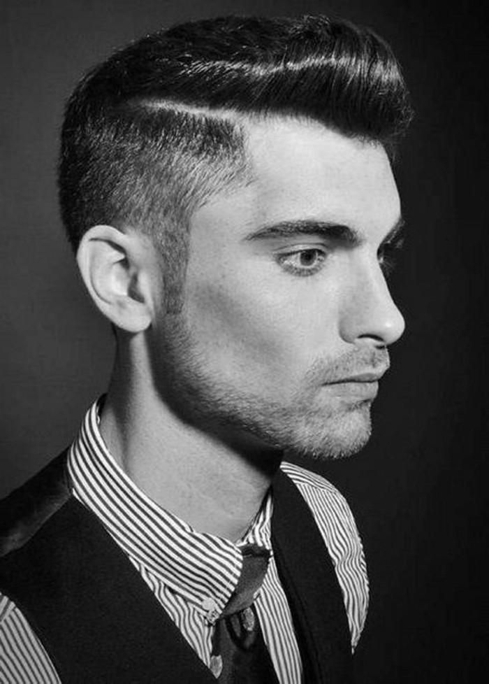 cuál es el clásico peinado hombre para los años 50, peinados hombres y mujeres en estilo rochkabilly, ideas de peinados