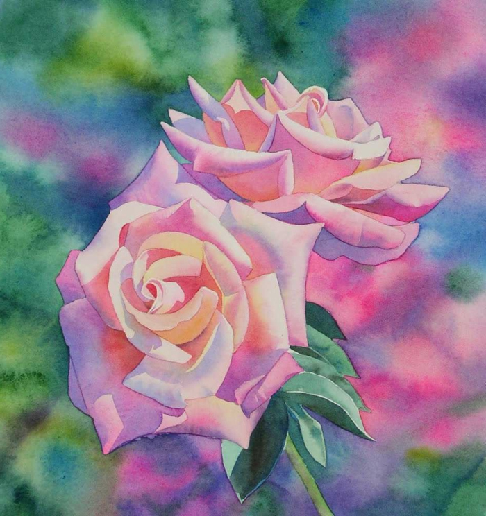 dibujos de rosas con acuarelas, más de 90 ideas sobre cómo dibujar con acuarelas para principiantes y avanzados