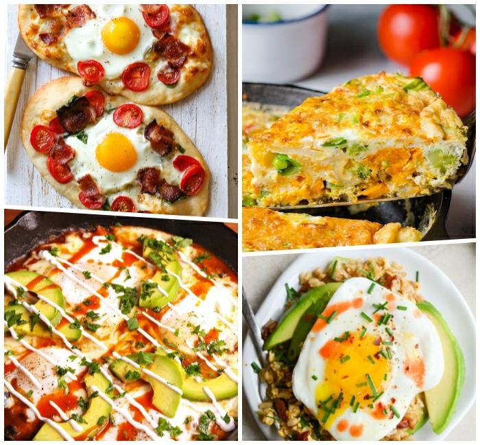 ideas sobre desayunos salados con huevo y aguacate, pizzas caseras, tortillas y sandwiches, recetas rapidas y apetitosas