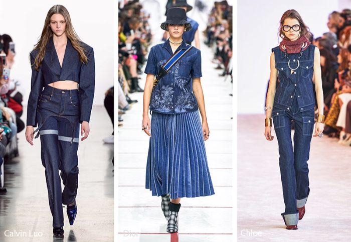 como llevar el denim en 2020, atuendos en denim modernos, outfit otoño, fotos de atuendos en tendencia otoño invierno 2019 2020