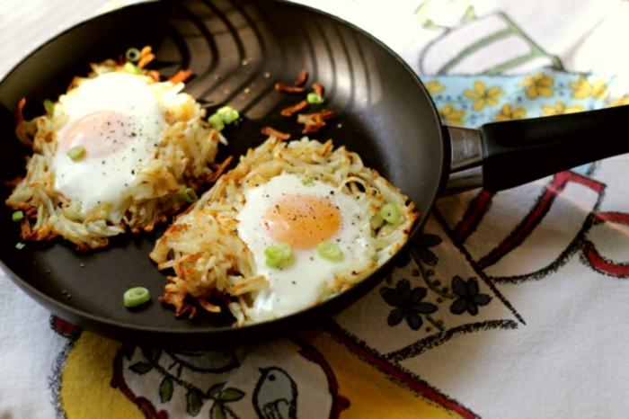 arroz a la sartén con huevos estrellados, super originales ideas de recetas faciles y rapidas para comer en 173 imagenes