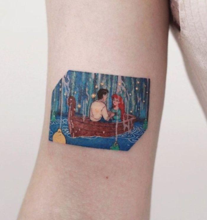 dibujos en los tatuajes, tatuajes de animales y personajes de las peliculas de Disney, ideas de tatuajes en el antebrazo