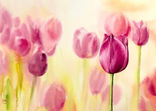 ideas para dibujar originales, pinturas con flores bonitas dibujadas con acuarelas, fotos de dibujos que inspiran, originales ideas de dibujos