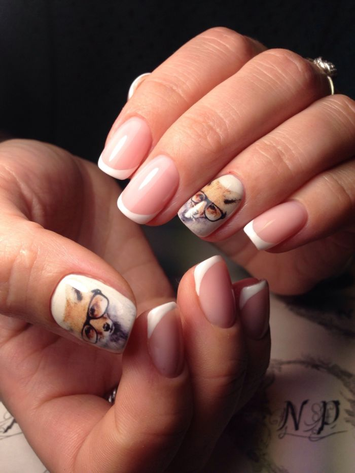 uñas francesas decoradas con bonitos dibujos, uñas decoradas elegantes, diseños de uñas en imagenes, 85 originales ideas