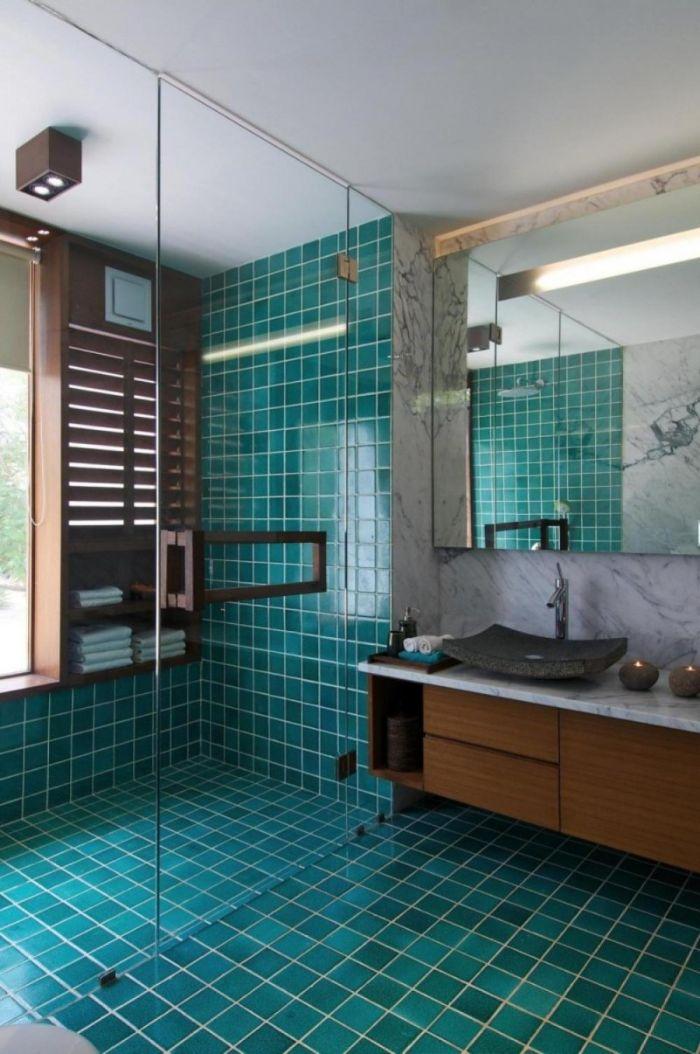 azulejos de baños modernos en colores vivos, decoración de baños, diseños de baños modernos 2019, como decorar un baño