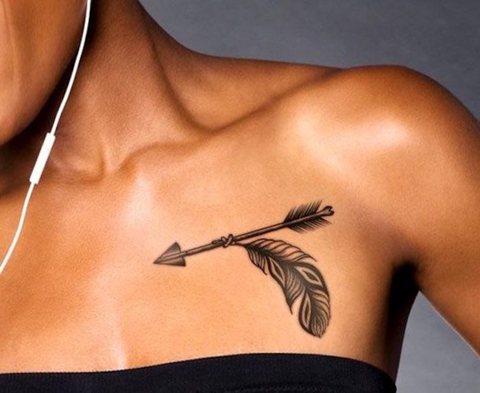 diseños de tatuajes con plumas, fotos con bonitos tatuajes, signficado de los tatuajes con plumas, diseños originales