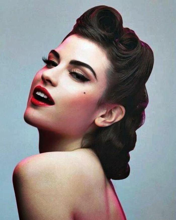 pin up fotos de peinados y vestimenta de los años 50, originales ideas de imagenes chicas retro, fotos de estrellas pin up