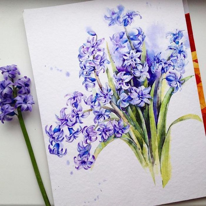 dibujos de flores en bonitas colores, dibujos bonitos en tonos vibrantes, aprender a dibujar para principiantes y avanzados