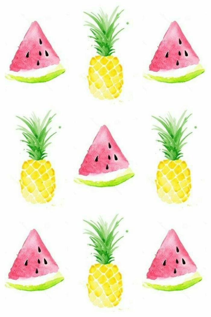 como dibujar frutas exóticas en los colores de verano, motivos para dibujar coloridos, ideas de frutas para redibujar