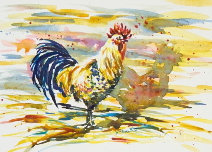 dibujos animales originales en colores acuarela, ideas de dibujos de animales en colores vibrantes, aprender a dibujar