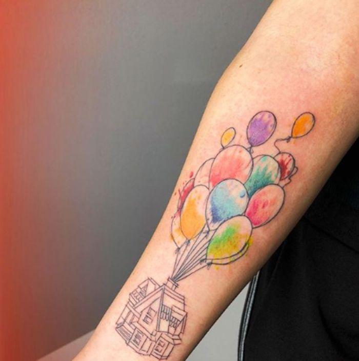 diseños de tatuajes en acuarela, tatuajes grandes con dibujos de peliculas de Disney, las mejores tatuajes en fotos