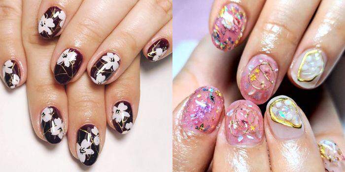 tendencias en la decoración de uñas 2019 2020, dibujos de uñas de gel, las mejores ideas de dibujos en las uñas en fotos
