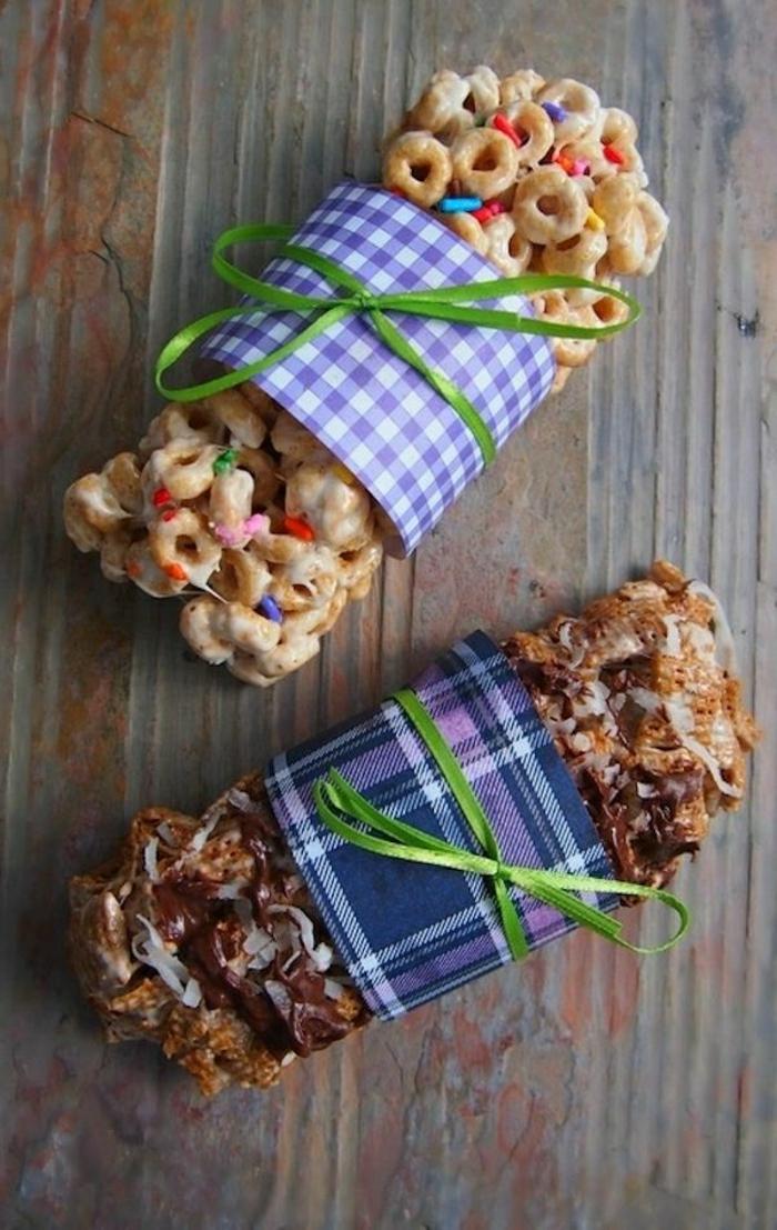 bloques de cereales saludables, recetas faciles y rapidos de postres caseros, ideas de psotres y comidas dulces desayuno
