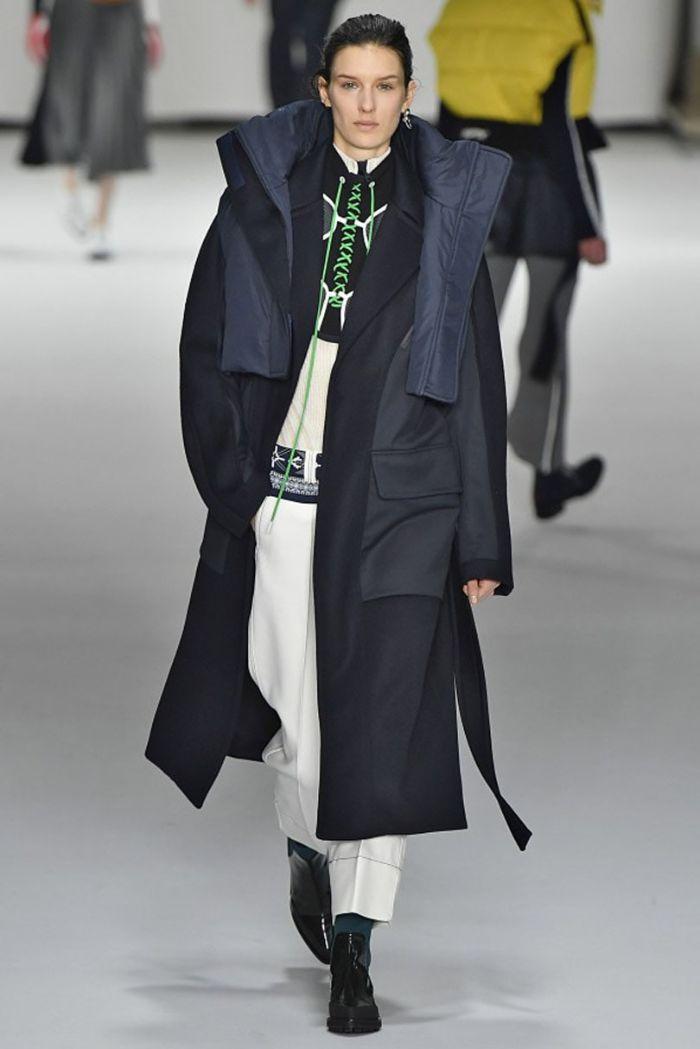 colores modernos otoño invierno 2019 2020, outfit otoño en blanco y negro, fotos de prendas modernas de las pasarelas