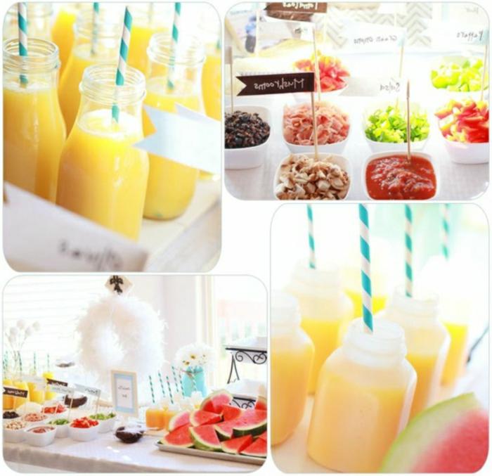 bebidas y comidas refrescantes para un desayunos ricos y saludable, fotos de comdias y bebidas para un brunch en casa