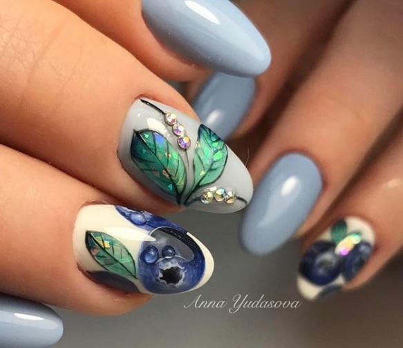 más de 100 ejemplos de modelos de uñas veraniegas en bonitas imágenes, colores, dibujos y formas modernas para uñas