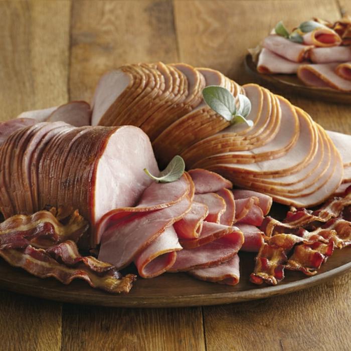 desayunos faciles con embutidos, lonchas de jamón y tocino, ricas propuestas de recetas caseras originales paso a paso