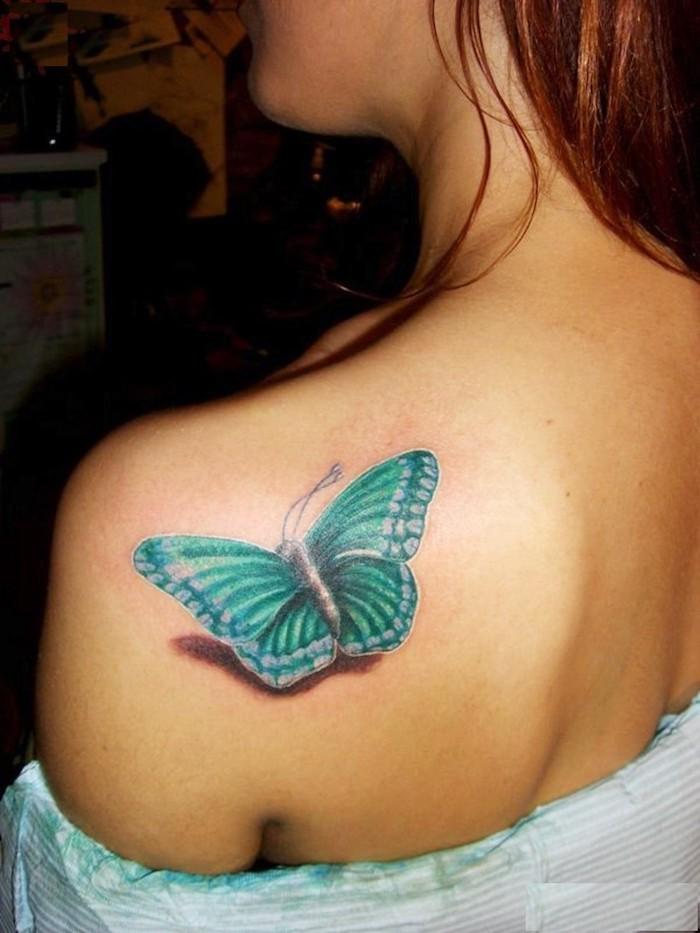 tatuaje mariposa en el hombro, diseños de tatuajes que signifiquen un cambio y metamorfosis, fotos de bonitos tatuajes