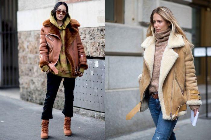 dos propuestas de outfit invierno en estilo casual, ideas sobre qué llevar este invierno, fotos de atuendos bonitos y prácticos