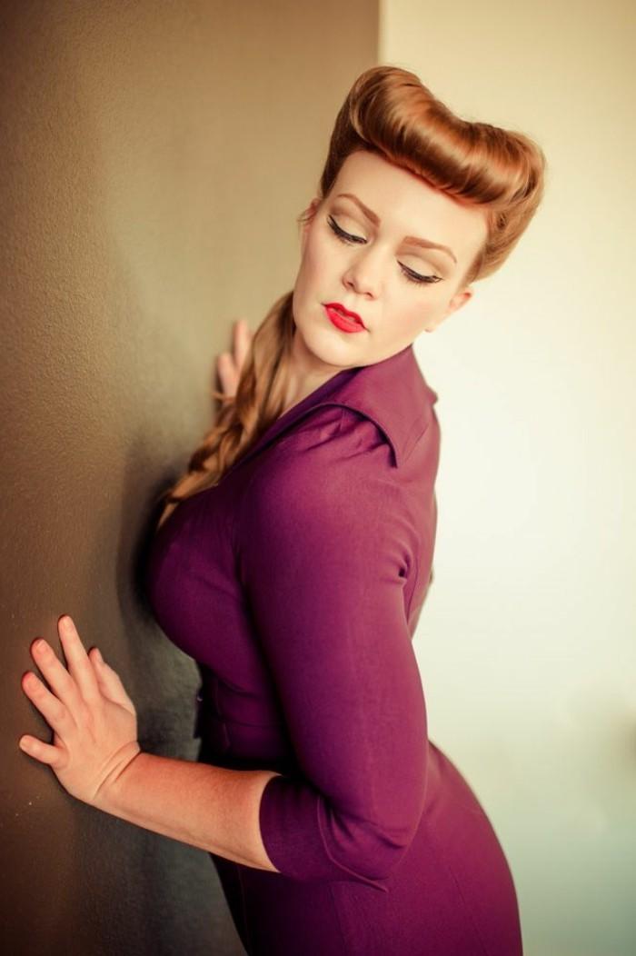 peinados y recogidos clásicos para los años 50, fotos de celebridades con peinados en estilo pin up, peinados vintage