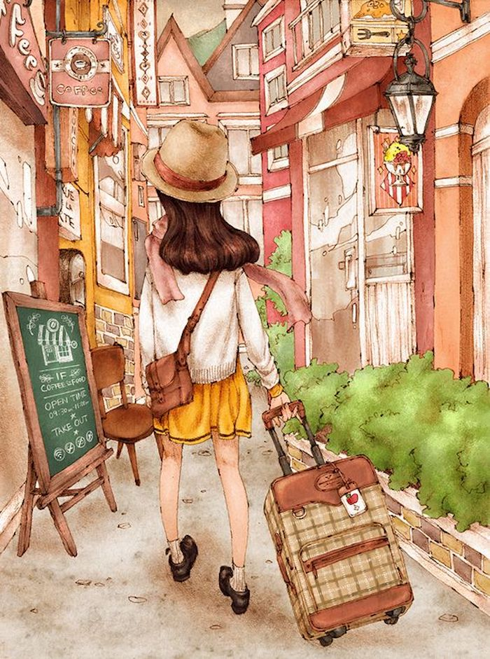 dibujos en colores que inspiran, dibujos para redibujar, preciosas pinturas que te sirvan de inspiración, ideas sobre como dibujar personas