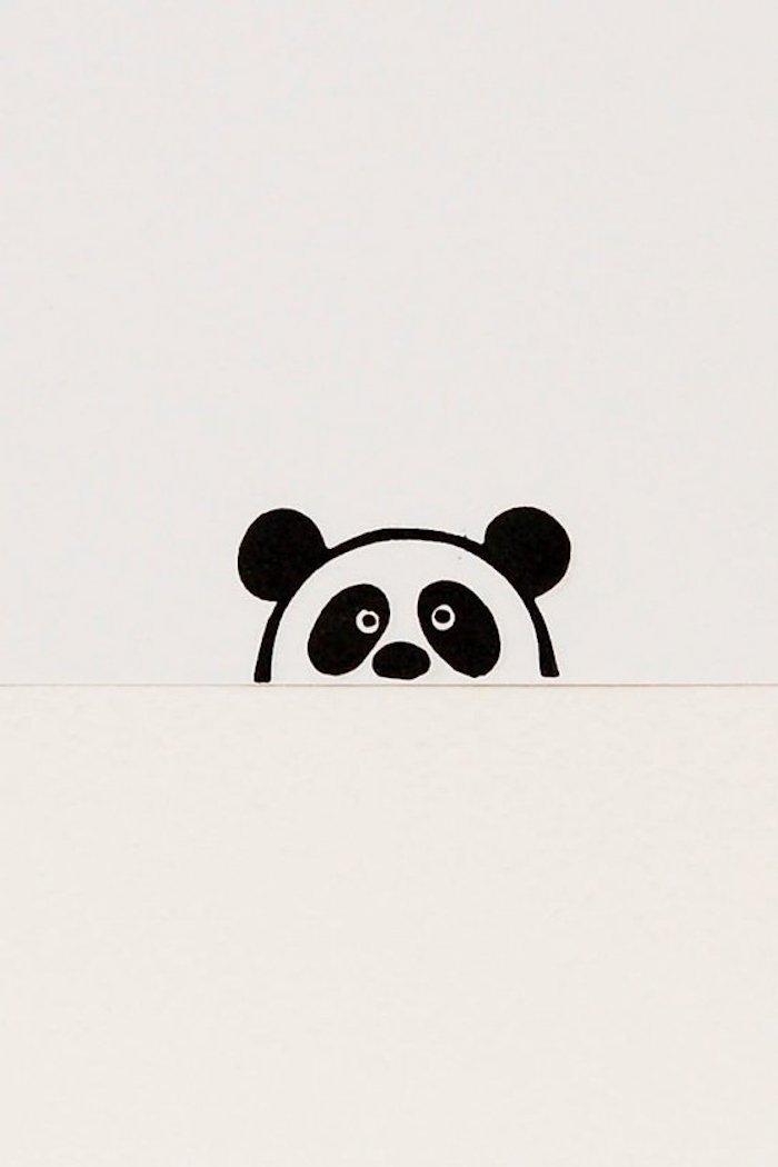 ideas super sencillas de dibujos de animales, 75 fotos de dibujos para descargar y redibujar, dibujo de panda simpático y fácil