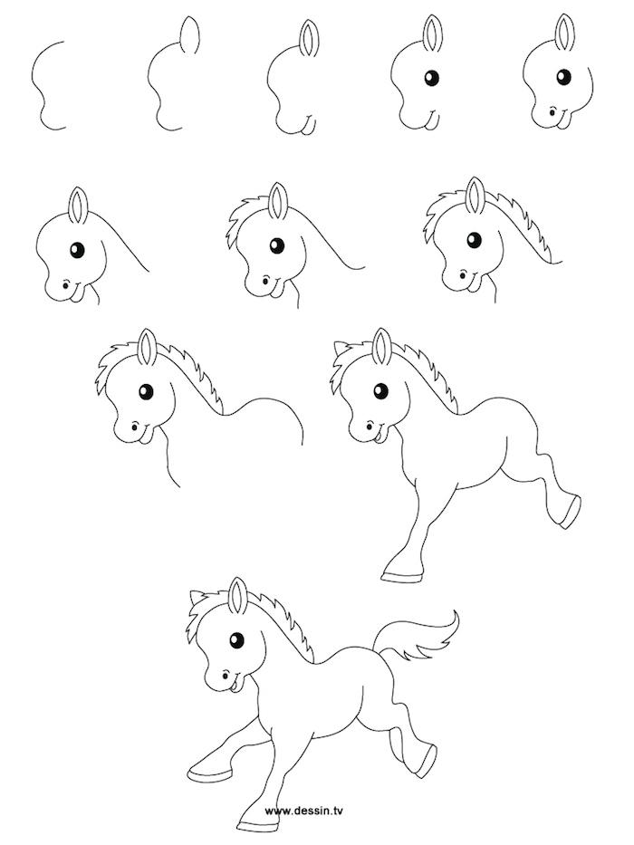 aprender a dibujar puede ser divertido con nuestras propuestas, dibujos de animales fáciles, ideas sobre como dibujar un caballo