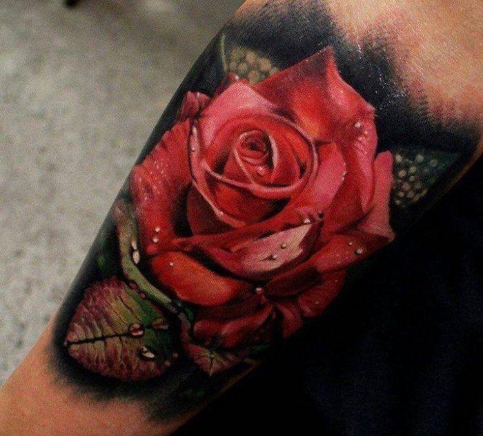 tatuajes en el antebrazo con flores, diseños de tatuajes con rosas, tatuajes old school, más de 150 ideas de tattoos mujer