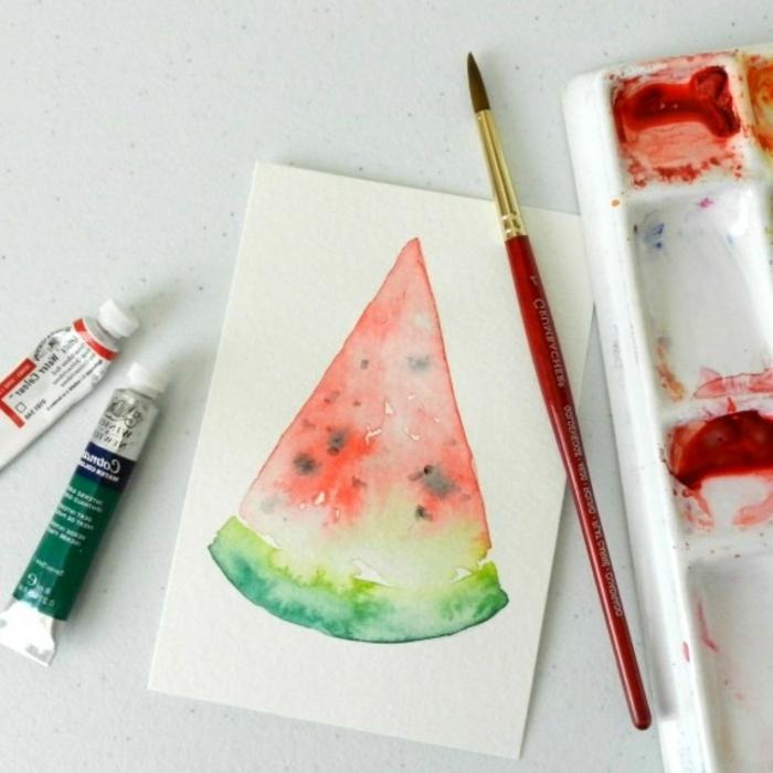 flores acuarela y frutas sencillas para dibujar, tutoriales de dibujos acuarela en 90 fotos, ideas de dibujos paso a paso