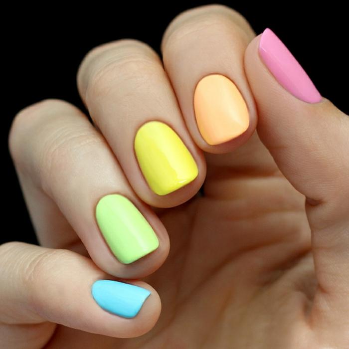 más de 70 imágenes de uñas pintadas en colores modernos, colores de uñas de moda, decorados de uñas 2019 2020