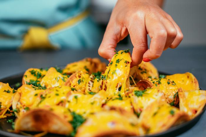 ideas de tacos al pastor receta en fotos, las mejores recetas de tacos para una cena con amigos, tacos queso derretido