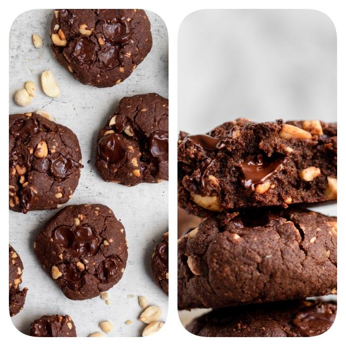 super receta de galletas de chocolate, galletas con chocolate, cacao, cacahuetes y manteca, las mejores ideas para galletas blandas