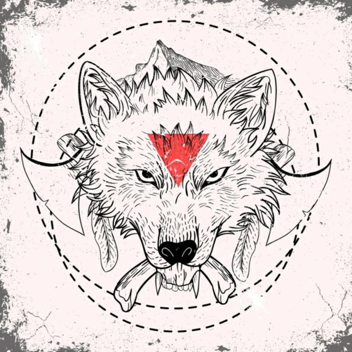tatuaje geométrico lobo, plantillas de tatuajes geométricos, originales modelos de tatuajes en fotos que puedes imprimir