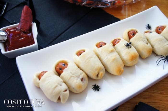 ideas sobre como hacer aperitivos halloween originales para sorprender a tus invitados, entrantes ricos y fáciles de hacer