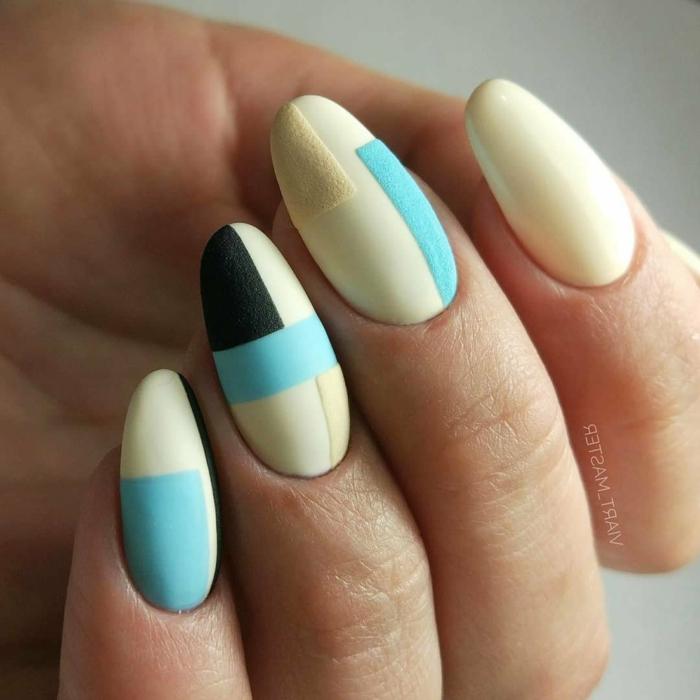 los mejores diseños de uñas otoño invierno 2019 2020, ideas de colores de uñas de moda, fotos de uñas acabado mate