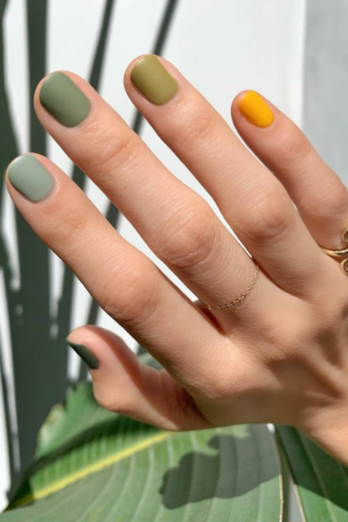 colores esmalte de uñas otoño ivierno 2019 2020, colores para uñas tonos apagados, uñas decoradas en imagenes