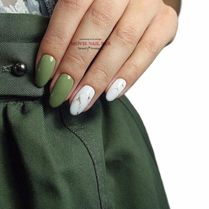 diseños de manicura originales, uñas decoradas en los colores en tendencia otoño invierno 2019 2020 en imágenes