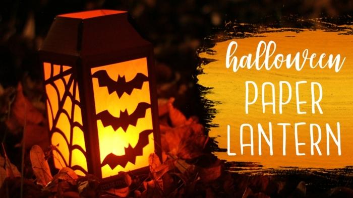 linternas de halloween DIY con dibujos de murcielagos, ideas de manualidades de halloween para niños y adultos