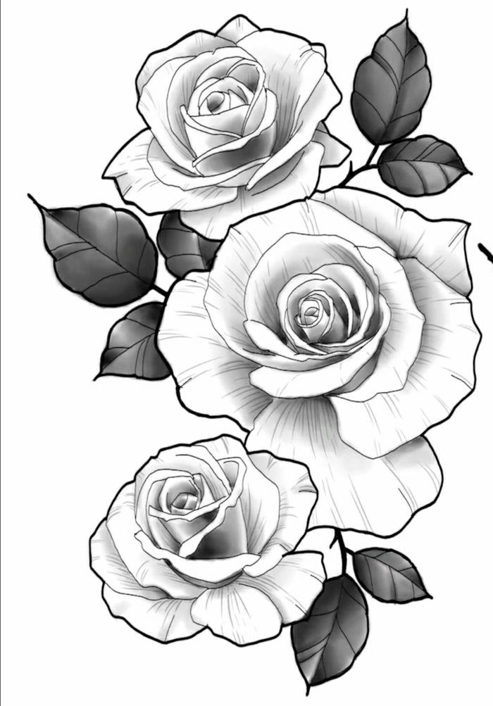 plantillas de tattoos de rosas y flores, dibujos para tatuajes femeninos, tatuajes delicados, diseños de tatuajes pequeños