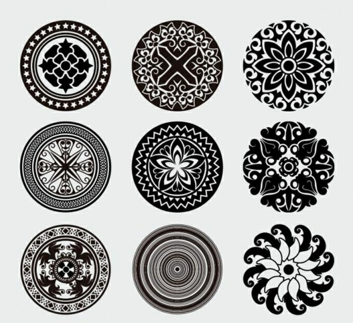 pequeños motivos para tatuajes, tatuajes mandalas originales, diseños de tatuajes bonitos para descargar e imprimir