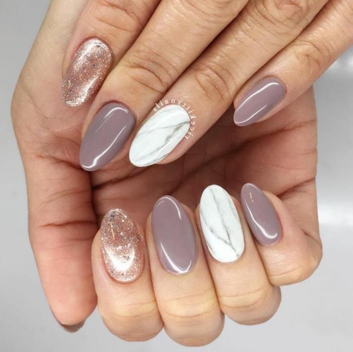 70 ideas de uñas elegantes pintados en colores neutrales, decoracion de uñas en bonitas colores, fotos de manicura