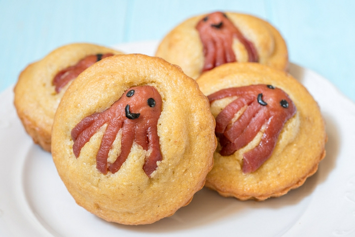 divertidas ideas para Halloween, galletas con pulpo, originales propuestas de aperitivos fáciles y rápidas Halloween