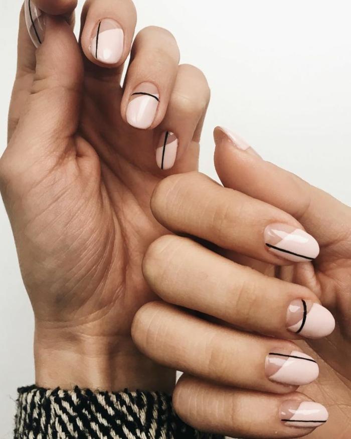 bonitas ideas de decoracion de uñas con elementos geométricos, cuáles son las tendencias para la nueva temporada