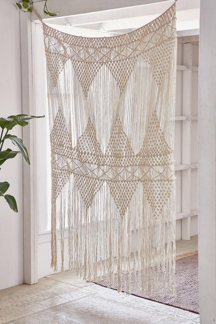 las mejores ideas de cortinas macrame para utilizar como separadores de ambientes, decoracion casa estilo boho