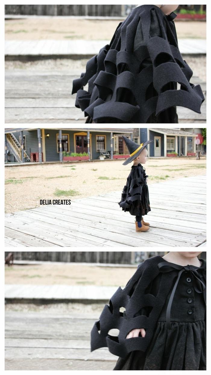 ideas originales de disfraces niño para hacer en casa, como hacer un disfraz de fieltro, manualidades con fieltro originales y fáciles de hacer en fotos
