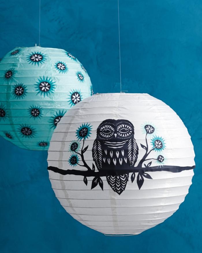 fantásticas ideas de manualidades halloween, linternas diy originales y fáciles de hacer con dibujos de búhos y motivos Halloween
