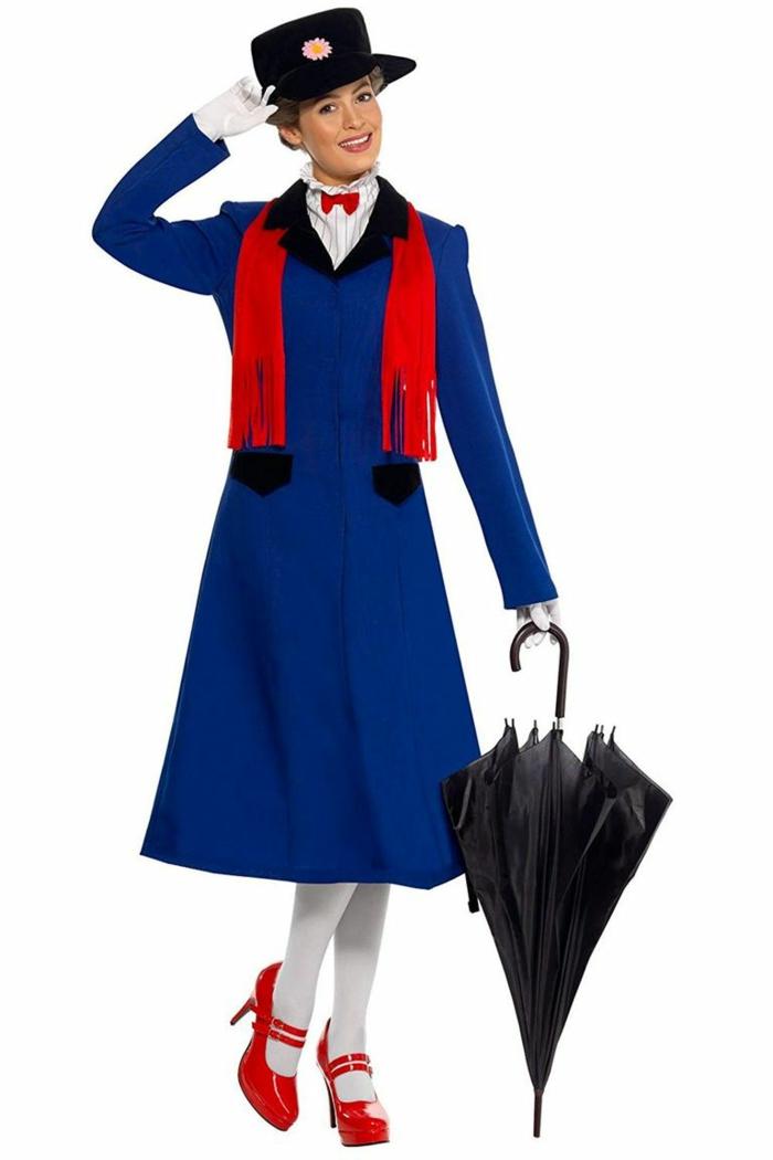 Merry Popins disfrace casero original, ideas de disfraces para mujeres y hombres, disfraces halloween originales en fotos
