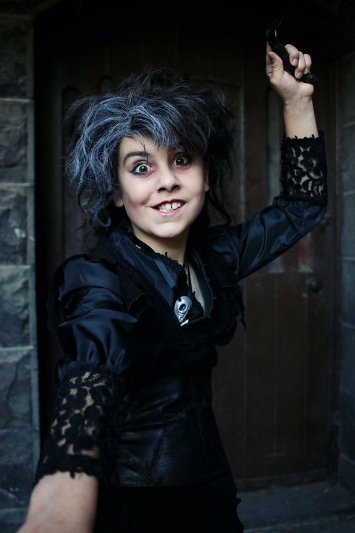 ejemlos de disfraz de halloween niña super original, disfraces de bruja caseros, cuales son los mejores disfraces niña