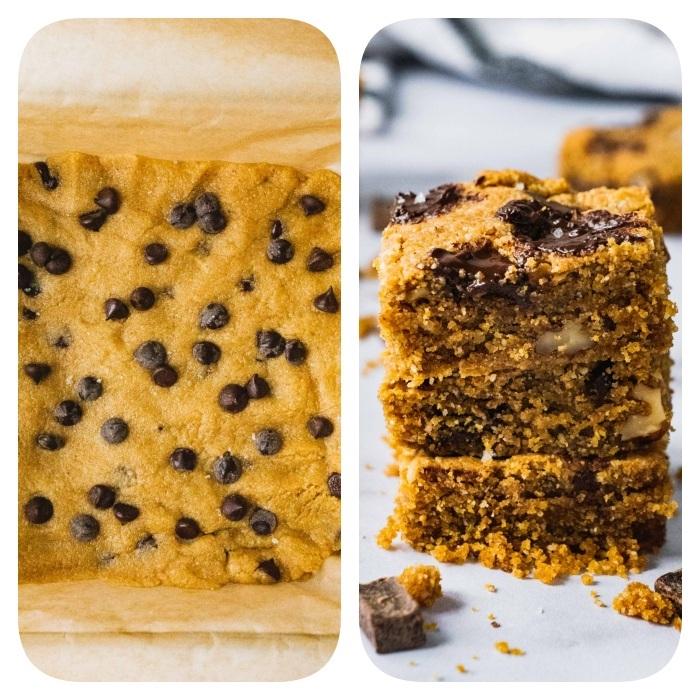 pastel casero hecho de masa de galletas, recetas de galletas caseras, recetas fáciles y rápidas paso a paso